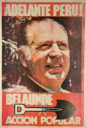 Popular Action (Peru) - Belaúnde election poster 1980