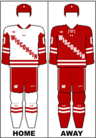 Wisconsin Badgers men's ice hockey - Image: B1G Uniform UW