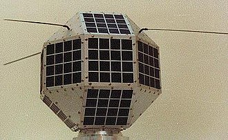 Space and Upper Atmosphere Research Commission - The Badr-I is displayed before its prior launch in 1990.
