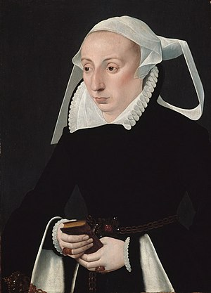 Barthel Bruyn the Younger - Woman with Prayerbook by Barthel Bruyn the Younger, ca. 1560, oil on wood, Art Institute of Chicago