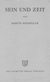 <i>Being and Time</i> Philosophy book by Martin Heidegger