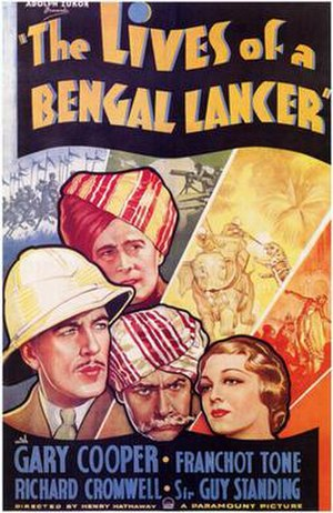 The Lives of a Bengal Lancer (film) - Theatrical release poster