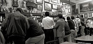 Cantina - Locals at the El Nivel cantina in Mexico City