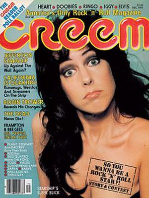 Creem - December 1977 cover featuring Grace Slick