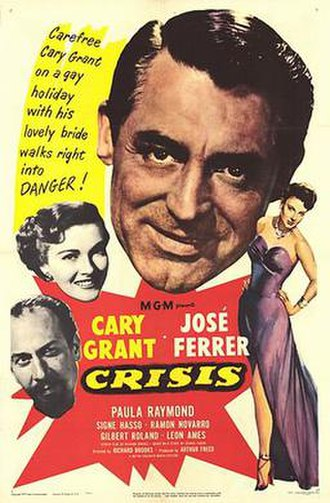 Crisis (1950 film) - Theatrical release poster