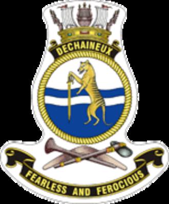 HMAS Dechaineux (SSG 76) - Ship's badge