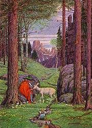 """""""Der Berggeist"""" by Josef Madlener."""