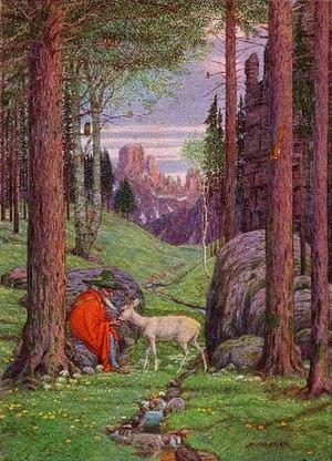 """Gandalf - """"Der Berggeist"""" by Josef Madlener."""