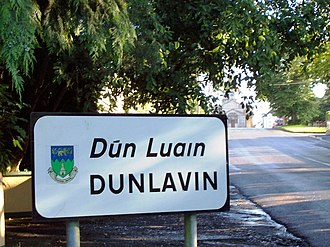 Dunlavin - The town sign of Dunlavin, Co. Wicklow