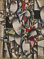 Fernand Léger, 1912-13, Nude Model in the Studio (Le modèle nu dans l'atelier), oil on burlap, 128.6 x 95.9 cm, Solomon R. Guggenheim Museum, New York, Solomon R. Guggenheim.jpg