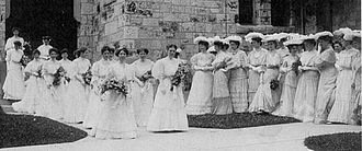 Ferry Hall School - The Commencement ceremony in 1905.