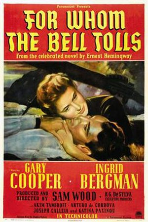 For Whom the Bell Tolls (film) - Image: For whom movieposter