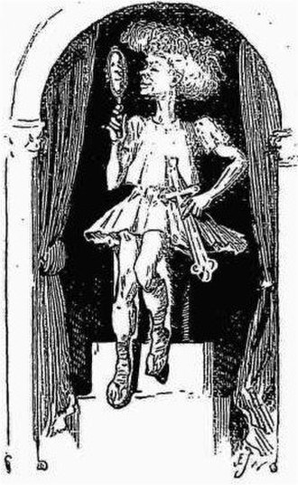 Galatea, or Pygmalion Reversed - Punch cartoon of Edward Terry as Pygmalion