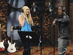 Gonna Get This - Cyrus as Montana and Iyaz singing in a recording studio