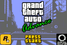Game title screen showing Grand Theft Auto Advance logo