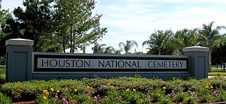 Houston National Cemetery - Main entrance to Houston National Cemetery