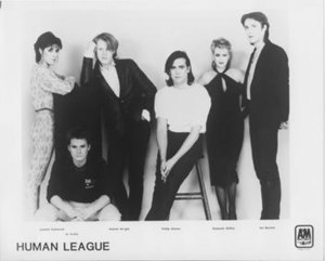 The Human League (Mk2) 1981, from left Cathera...