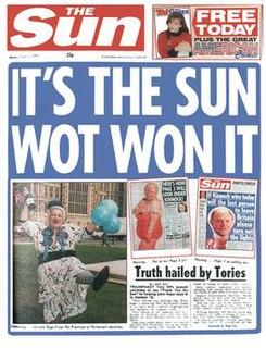 Its The Sun Wot Won It Newspaper headline