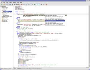 TIGCC - Screenshot of the KTIGCC IDE