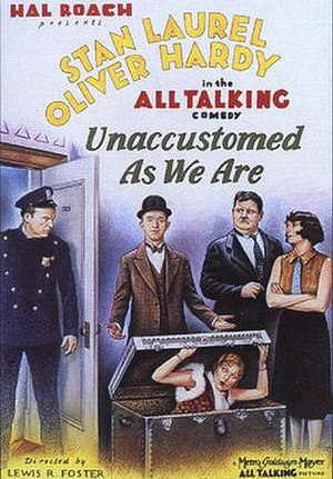 Unaccustomed As We Are - Theatrical poster