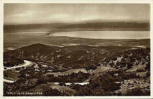 Lake Amik - The Lake of Antioch, showing its setting in Amik Plain. Early 20th century.