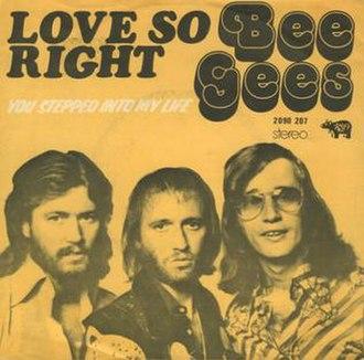 Love So Right - Image: Love So Right
