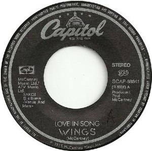 Love in Song - Image: Love in Song single label