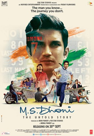 M.S. Dhoni: The Untold Story - Theatrical release poster
