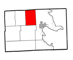 Location of Maple Ridge Twp. within Alpena County