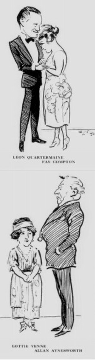 The Circle (play) - Sketches of the first production: top Leon Quartermaine and Fay Compton; bottom Lottie Venne and Allan Aynesworth