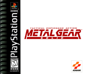 Official cover art for Metal Gear Solid for th...