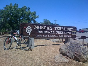 Morgan Territory - Here is the Morgan Territory Entrance