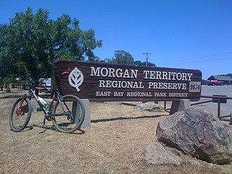 Morgan Territory - Here is the Morgan Territory Entrance