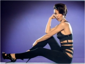 """Never Leave You - Amelle Berrabah in the music video for """"Never Leave You""""."""