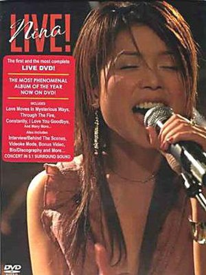 Nina Live! (video album) - Image: Nina Live! DVD