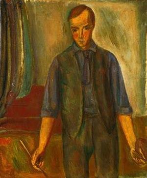 René Auberjonois (painter) - Portrait de l' Artiste / Portrait of the Artist (1915–16)  Oil on canvas, 64 × 53 cm