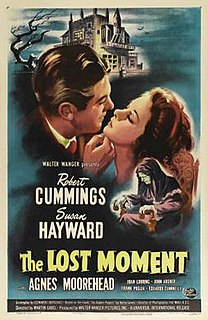 <i>The Lost Moment</i> 1947 film by Martin Gabel