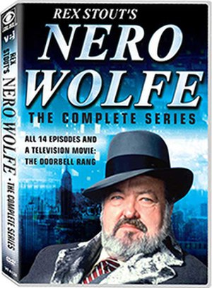 Nero Wolfe (film) - Cover of the Visual Entertainment, Inc., DVD release of Rex Stout's Nero Wolfe: The Complete Series (2017)