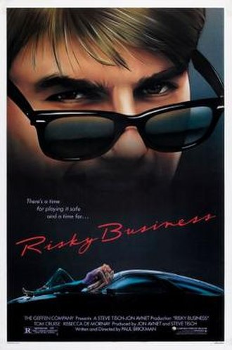 Risky Business - Theatrical release poster by Drew Struzan
