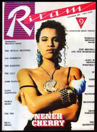 Ritam - Cover of the November 1989 issue, featuring Neneh Cherry