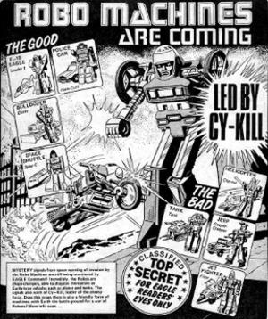 Robo Machines (comics) - Image: Robo Machines (Go Bots) UK comic advert