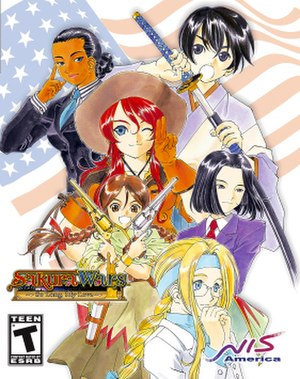 Sakura Wars: So Long, My Love - North American PlayStation 2 cover art.