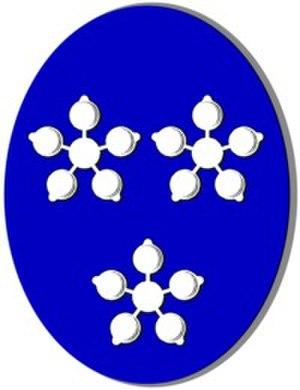 Flora Fraser, 21st Lady Saltoun - Coat of Arms of Lady Saltoun as Chief of the Name and Arms of Fraser.