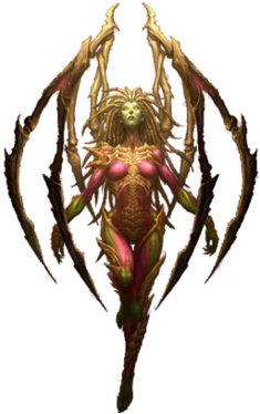Kerrigan in a concept art
