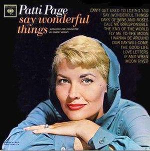 Say Wonderful Things (album) - Image: Say Wonderful Things (album) cover