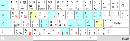 Keyboard layout wikipedia qwpr keyboard layout letters moved from qwerty in teal or yellow if different hand ccuart Gallery