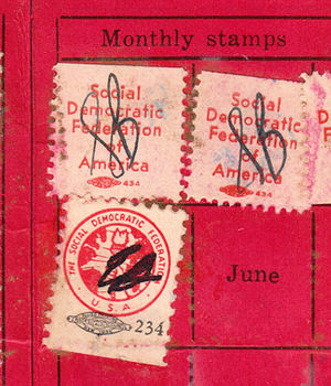 Social Democratic Federation (United States) - Image: Sdf duesstamps 36