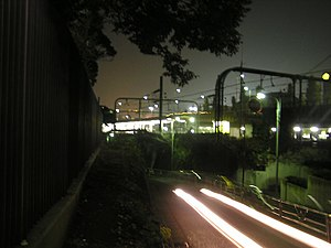 Sendagaya - Sendagaya Station at night