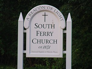 Narragansett Baptist Church - Image: South Ferry Church Sign
