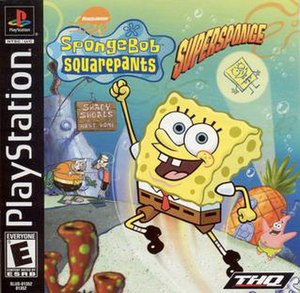 SpongeBob SquarePants: SuperSponge - North American PlayStation cover art
